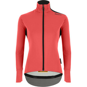 Santini Vega Xtreme Cut Winter Jacket Women, grenadine/fluo coral